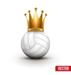 Volleyball ball with royal crown of queen vector image vector image