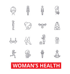 womens health fitness healthy woman breast vector image vector image