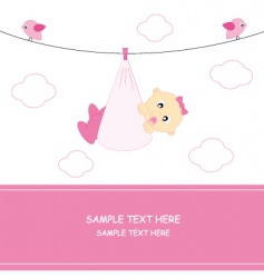 arrival baby girl vector image vector image