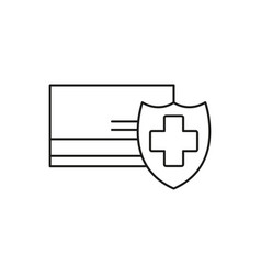 Credit card protection icon vector