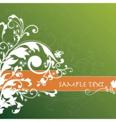 floral background banner vector image vector image
