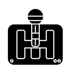 gearstick icon black sign on vector image vector image