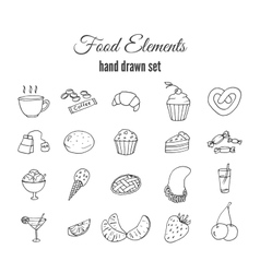 Hand drawn sweet pastry set Bakery vector image vector image
