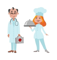 People cook and doctor different professions vector