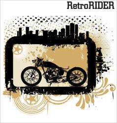 retro rider background vector image vector image