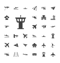 33 aircraft icons vector