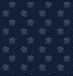 Abstract indigo blue polka dots seamless vector