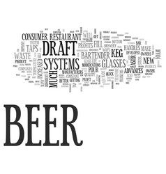 Advances in the draft beer system improve profits vector