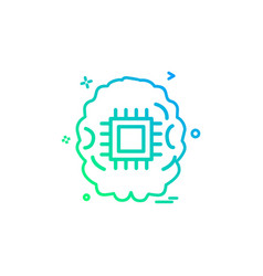 artificial intelligence robot icon design vector image