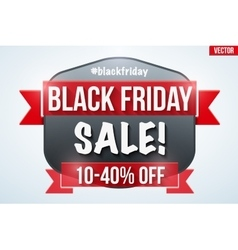 Black Friday Sale badge vector image