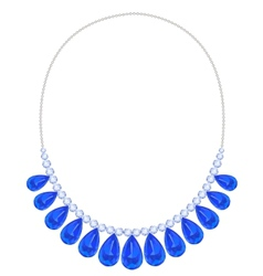 Blue necklace vector image