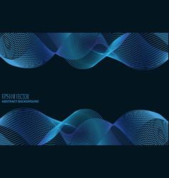 blue wave background for business presentation vector image