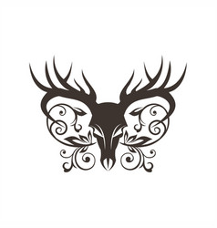bone deer decoration vector image