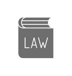 Book with laws constitution greyicon isolated vector
