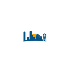 building skyline urban logo vector image