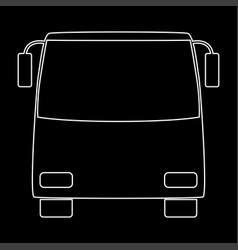 bus white color path icon vector image vector image