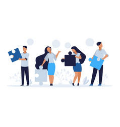 Business teamwork concept cartoon people with vector