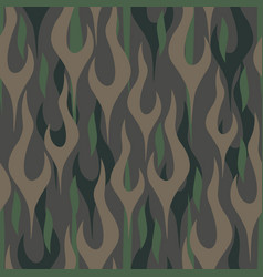 camouflage flames seamless repeating pattern vector image