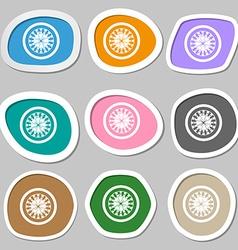 Casino roulette wheel symbols Multicolored paper vector