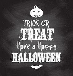Chalkboard Halloween background vector