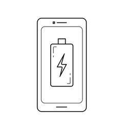 charge phone line icon vector image