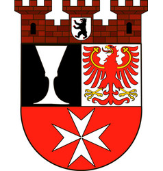 Coat of arms of neukoelln in berlin germany vector