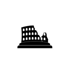 coliseum icon colosseum icon black on white vector image