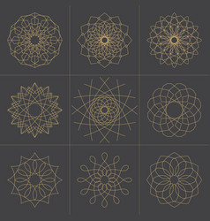 collection of design elements geometric shapes vector image