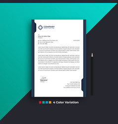 corporate business company modern letterheads wavy vector image