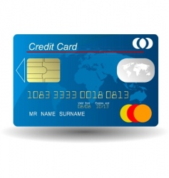 Credit card vector