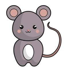 Cute and tender mouse kawaii style vector