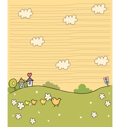Cute Idyllic Village Scene vector