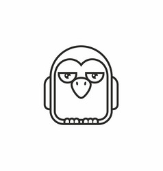 cute penguin icon on white background vector image vector image