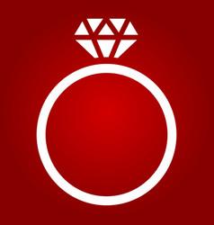 Diamond ring glyph icon valentines day vector