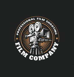 emblem film cinema camera vector image