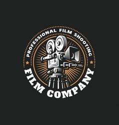 Emblem film cinema camera vector