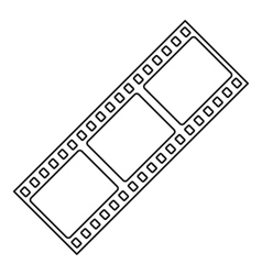 Film strip icon outline style vector