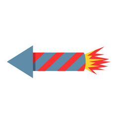 fireworks rocket icon petard vector image