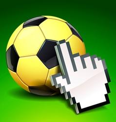 football icon vector image