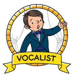 Funny singer or vocalist vector