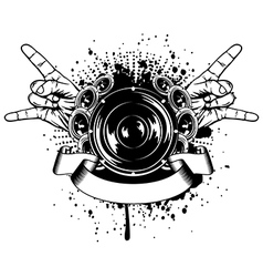 gesture rock vector image