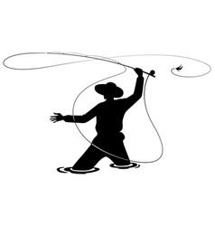 graphic fisherman vector image