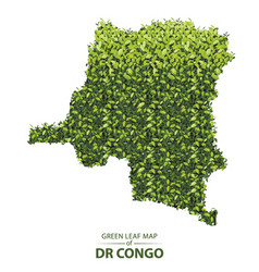 Green leaf map democratic republic the vector
