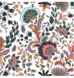Hand drawn flower seamless pattern colorful vector