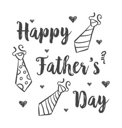 Happy father day style hand draw vector