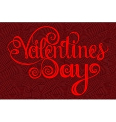 Happy valentines day Lettering design elements vector