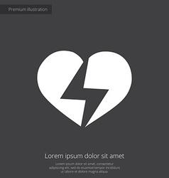 Heart lightning premium icon vector