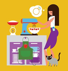 home baking vector image vector image