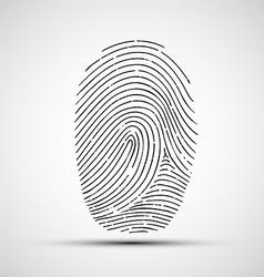 Icon human finger print vector