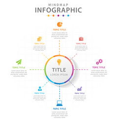 Infographic template for business 8 steps modern vector
